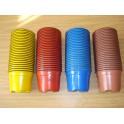 lot de 100 pots de 9 cm couleur multiple