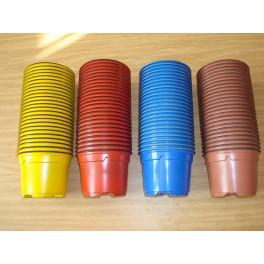 100 pots de 9 cm - 4 couleurs (RBJTc)