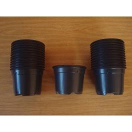 25 pots de 9 cm de couleur noir