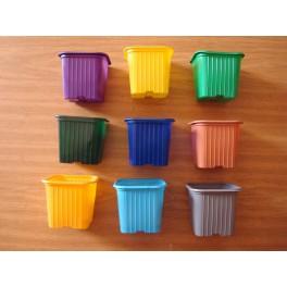 Lot de 500 godets 7-7-6.4 couleurs variées
