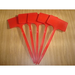Lot de 5 étiquettes 25 cm rouges