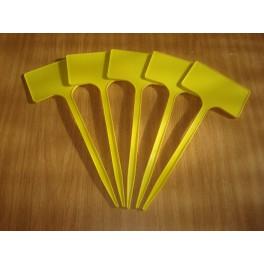 Lot de 5 étiquettes de 25 cm jaunes