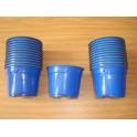 Lot de 25 pots de 10,5cm couleur bleu