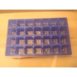 lot de 5 plaques bleu 28 alveoles