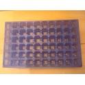lot de 5 plaques bleues de 60 alvèoles