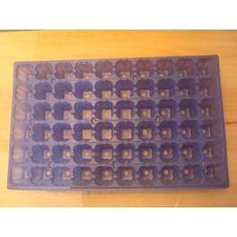 lot de 5 plaques bleues 60 alvèoles