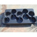 Lot de 5 plaques de transport pots de 13 cm