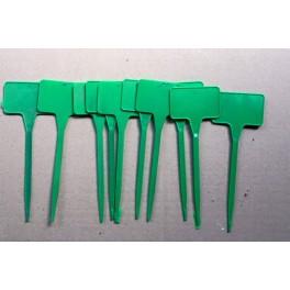 10 étiquettes de 15 cm verte