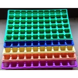 20 plaques de semis 60 alvéoles - 4 couleurs