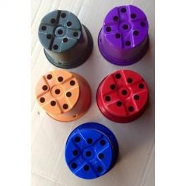 100 pots de 10.5 cm - 4 couleurs