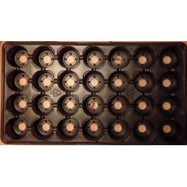 5 plaques TEKU de 28 alvéoles
