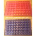 10 plaques Bleu/Rose 60 alvéoles 6cm de profondeur