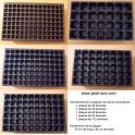 Assortiment de 5 plaques: 28-40-60-84-112 alvéoles
