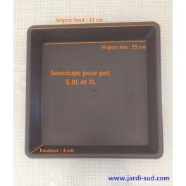 Soucoupe carrée pour pot 5,8 L et 7 L