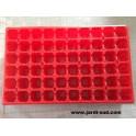 5 plaques rouge 60 alvéoles 6cm de profondeur