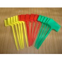 Lot 15 étiquettes 25 cm 3 couleurs