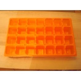 Lot de 5 plaques orange 28 alveoles