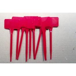 10 étiquettes de 15 cm rouge