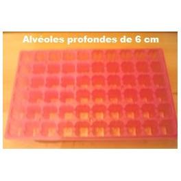 5 plaques roses 60 alvéoles 6cm de profondeur