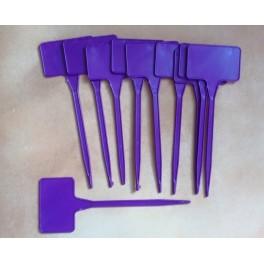10 étiquettes de 15 cm violet
