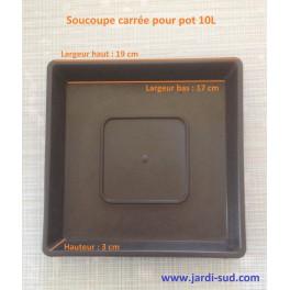 Soucoupe carrée pour pot 10 L